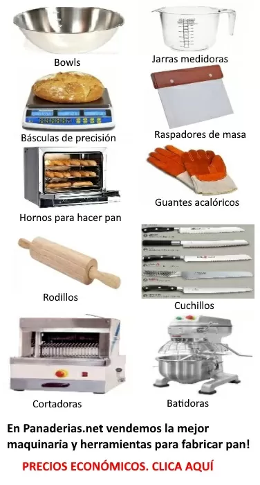 banner herramientas hacer pan panaderias net