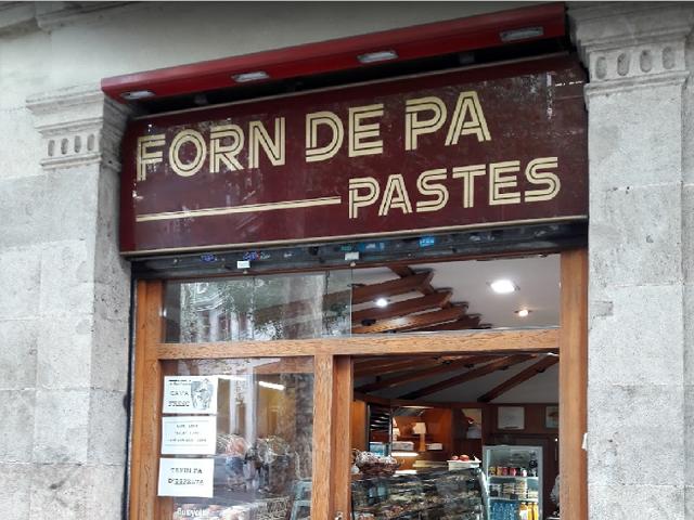 Panadería Forn De Pa I Pastes, Barcelona España