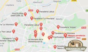 Mapa mejores panaderías en Álava