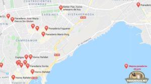 Mapa mejores panaderías en Alicante