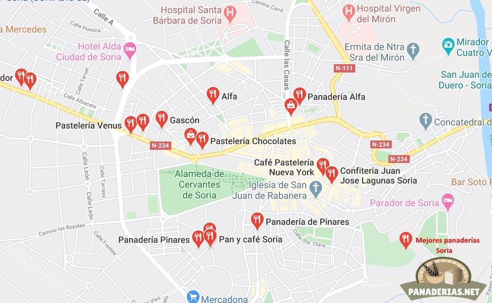 Mejores panaderías en Soria