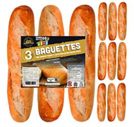 12 x Baguettes de Pan SiempreTierno 110 grs 1320 grs total · Dura hasta 88 dias sin necesitad de frio ni congelacion · Ideal para cualquier