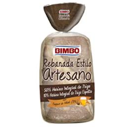 Bimbo Pan con grano de trigo integral envasado Rebanada 550 gr.