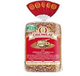 Oroweat Pan de Molde Integral 12 Cereales Y Semillas 18 Rebanadas 680 g